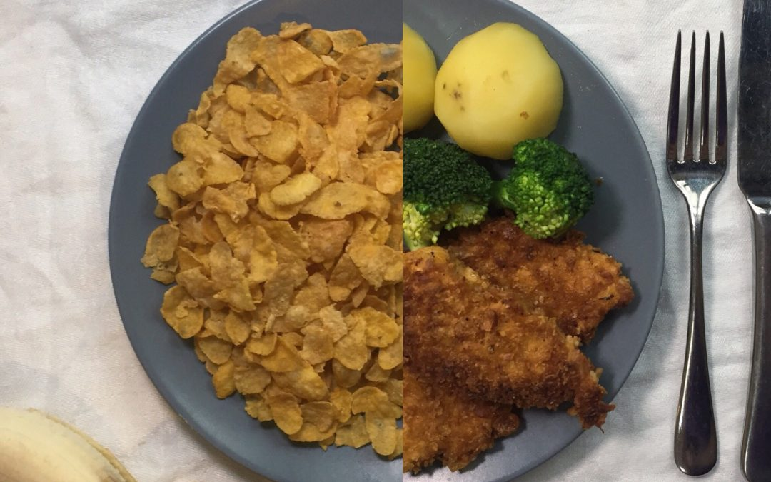 Cornflake crumbed chicken