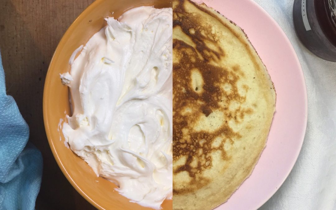 (Why do I always have leftover) double cream pancakes