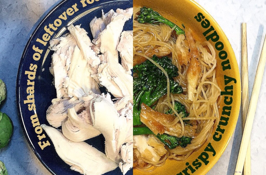 Leftover roast (turkey, chicken, pork …) noodles