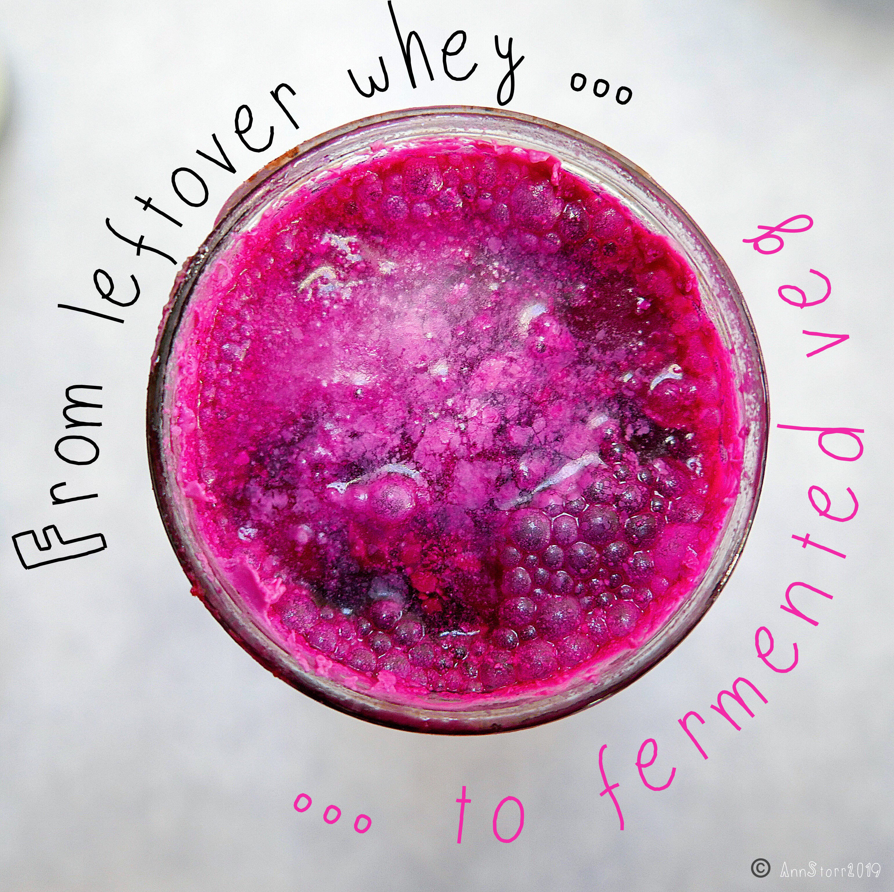 Whey fermented beetroot