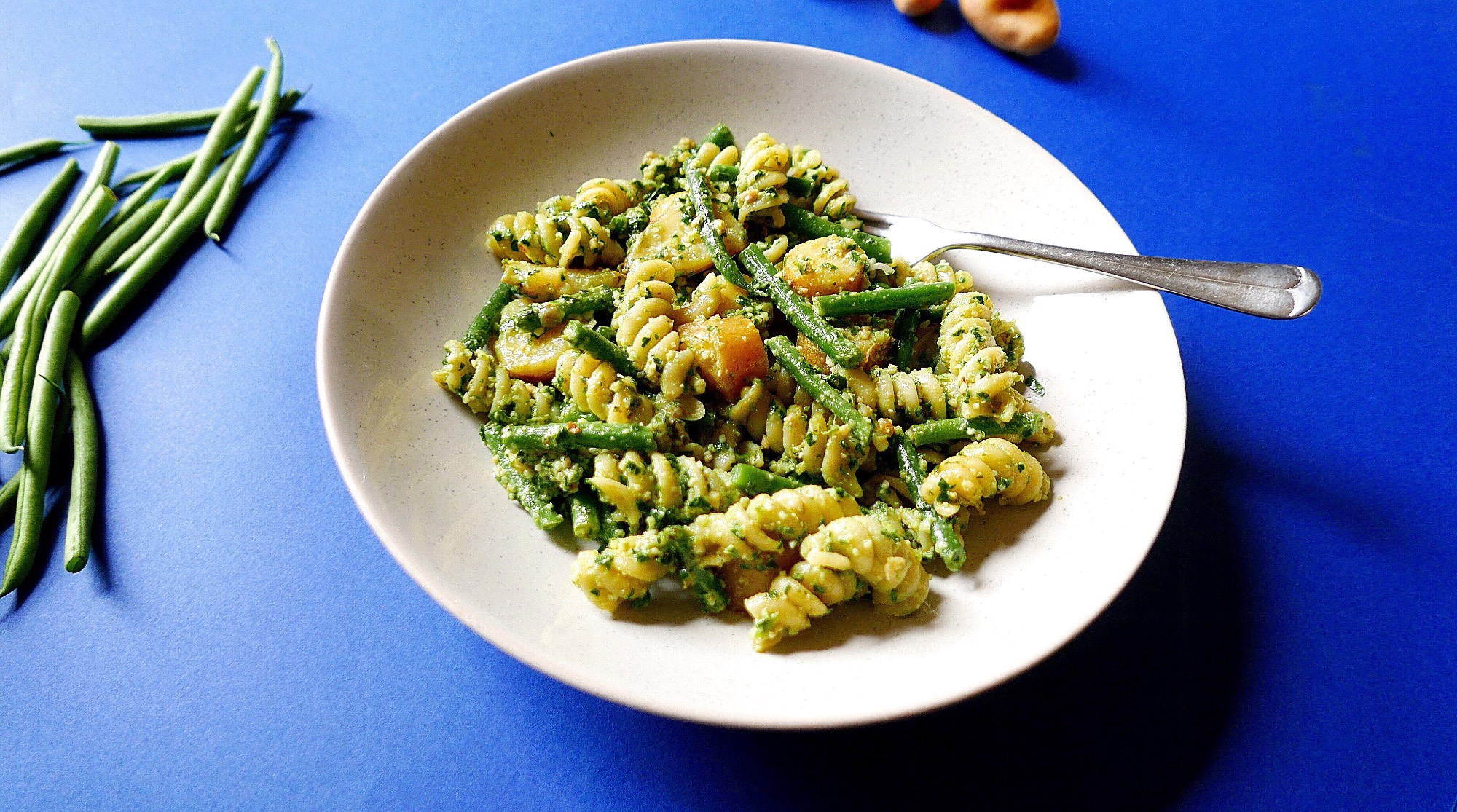 Leftover Green Beans With Pasta And Pesto Storr Cupboard