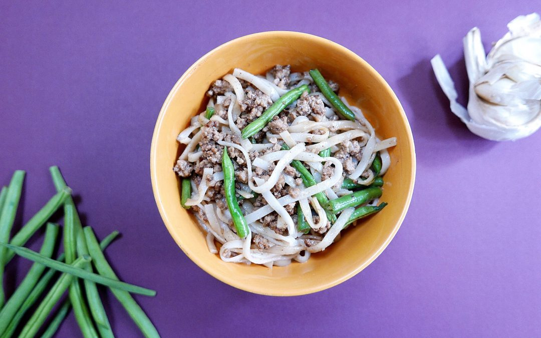 Leftover Green Beans with Soy Pork