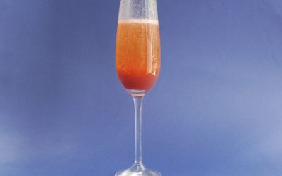 Squashed strawberry Bellini
