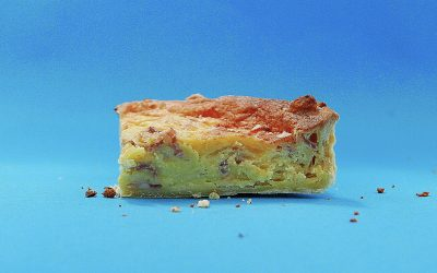Egg and bacon quiche
