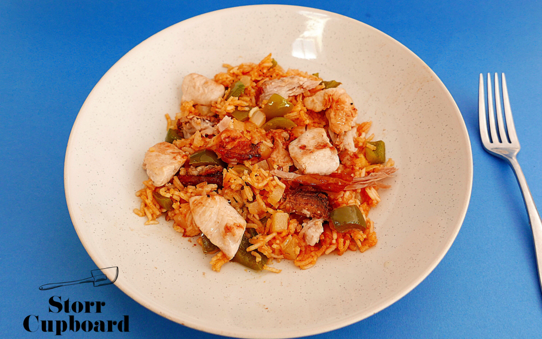 Leftover Green Pepper Jambalaya