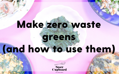 How to make your own frozen greens
